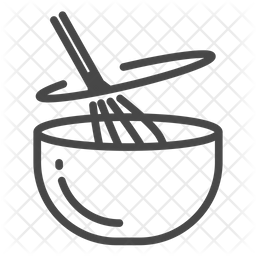 Stir Line Icon