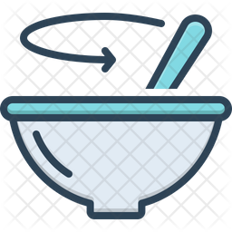 Stir Colored Outline Icon