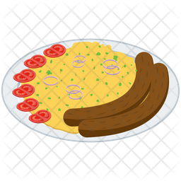 Stoemp Platter Vector Icon