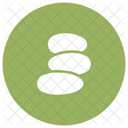 Stone Therapy Glyph Icon