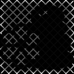 Stones Glyph Icon