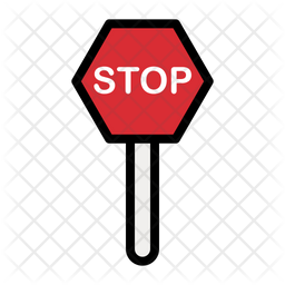 Stop Colored Outline Icon