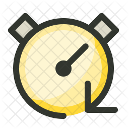 Stopwatch Colored Outline Icon