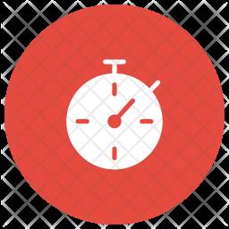 Stopwatch Glyph Icon