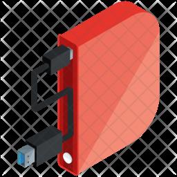 Storage drive Isometric Icon