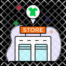 Store Locator Colored Outline Icon