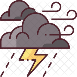 Storm Colored Outline Icon