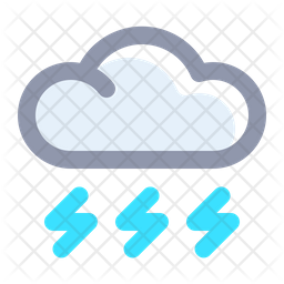 Stormy Colored Outline Icon