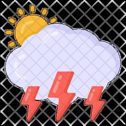 Stormy Day Flat Icon