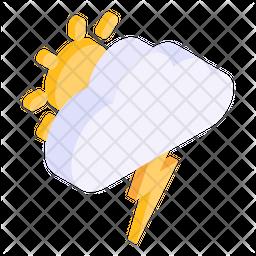 Stormy Day Isometric Icon