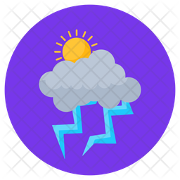 Stormy Weather Flat Icon