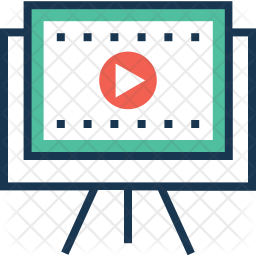 Storyboard Colored Outline Icon