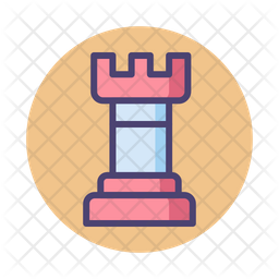 Strategy Game Colored Outline Icon