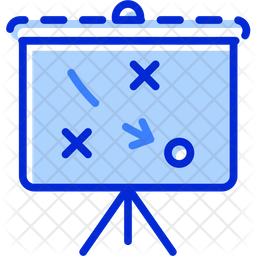 Strategy Plan Colored Outline Icon