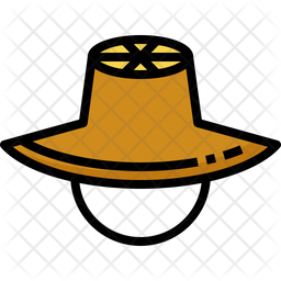 Straw Hat Icon Of Colored Outline Style Available In Svg Png Eps Ai Icon Fonts