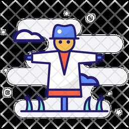 Strawman Colored Outline Icon