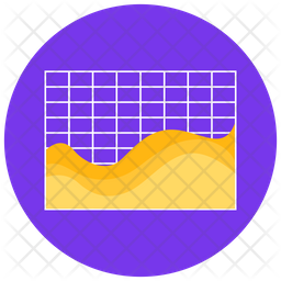 Streamgraph Plot Icon