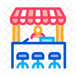 Street Food Stand Icon