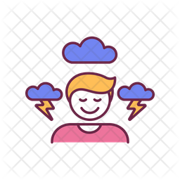 Stress resistance skills Colored Outline Icon