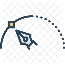 Stroke Colored Outline Icon