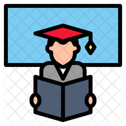 Student Icon Of Colored Outline Style Available In Svg Png Eps Ai Icon Fonts