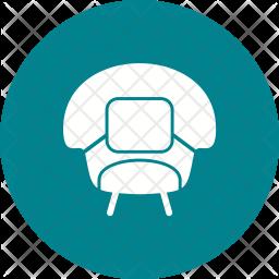 Stylish chair Icon