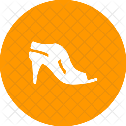 Stylish sandal Icon