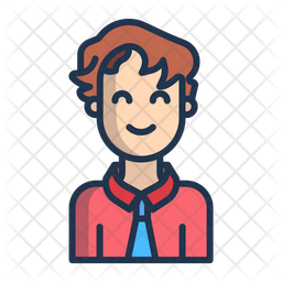 Stylist Boy Colored Outline Icon