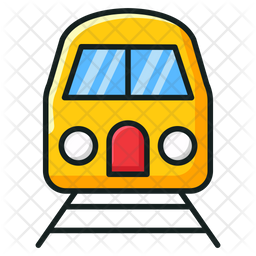 Subway Colored Outline Icon