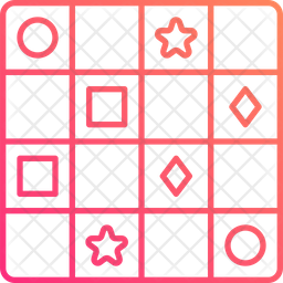 Sudoku Gradient Icon