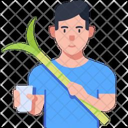 Sugarcane Juice Seller Icon