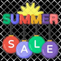 Summer Sale Flat Icon
