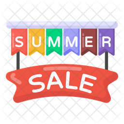 Summer Sale Banner Icon