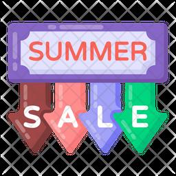 Summer Sale Emblem Icon
