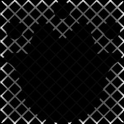 Summer snowflake Glyph Icon