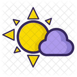 Sun with Cloud Icon
