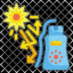 Sunblock Flat Icon