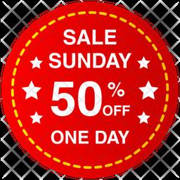 Sunday Sale Banner Icon