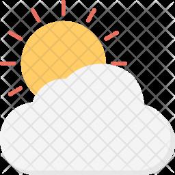 Sunny Flat Icon