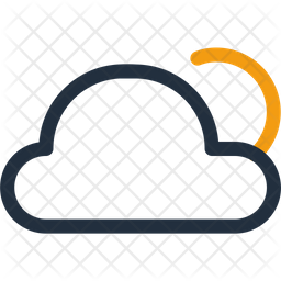 Sunny And Cloucdy Gradient Icon