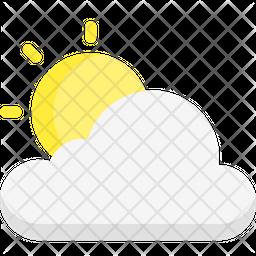 Sunny weather Flat Icon