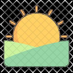 Sunrise Flat Icon