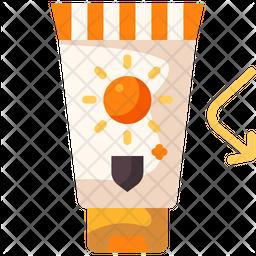 Sunscreen Flat Icon
