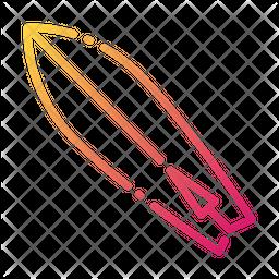 Surfboard Gradient Icon