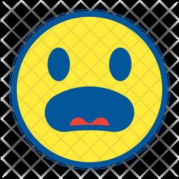 Surprised Colored Outline  Emoji Icon