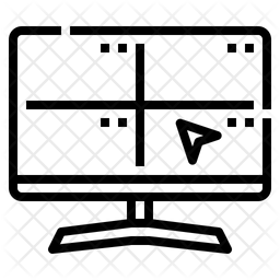 Surveillance Line Icon