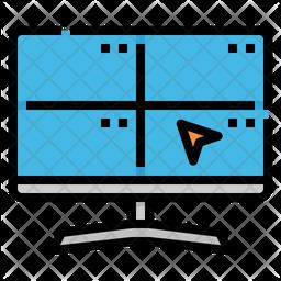 Surveillance Colored Outline Icon