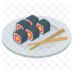 Sushi Icon Of Isometric Style Available In Svg Png Eps Ai Icon Fonts