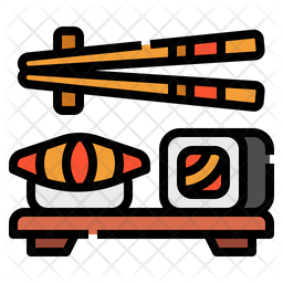 Sushi Icon Of Colored Outline Style Available In Svg Png Eps Ai Icon Fonts