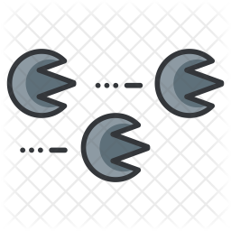 Swarm Colored Outline Icon